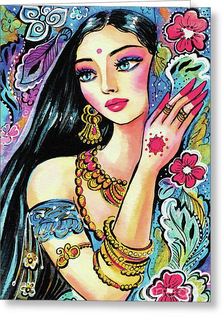 Greeting Card featuring the painting Gita by Eva Campbell
