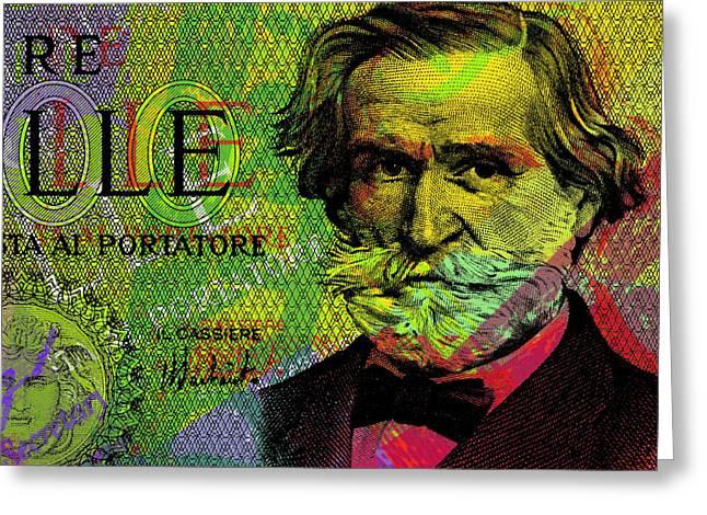 Giuseppe Verdi Portrait Banknote Greeting Card