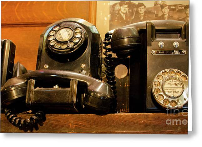 Give Me A Call Sometime Greeting Card by Bob Christopher