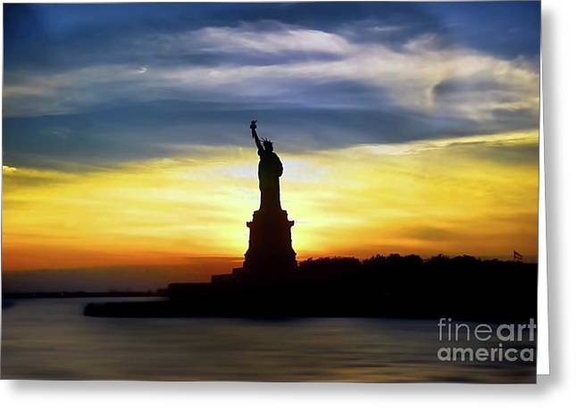 Give Me Your Tired Your Poor Your Huddled Masses Yearning To Breathe Free Greeting Card by Arnie Goldstein