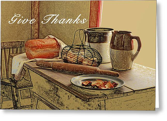Give Thanks Greeting Card by Michael Peychich
