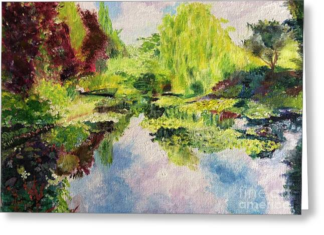 Greeting Card featuring the painting Giverney by Mary K Conaboy