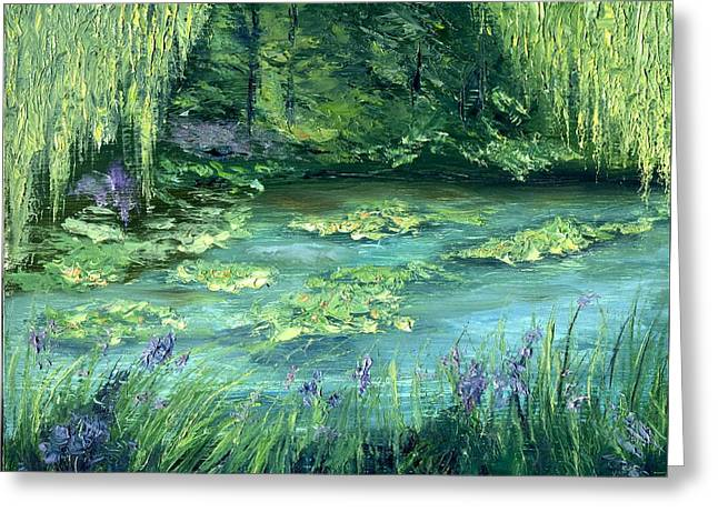 Giverny Greeting Card by Gail Kirtz
