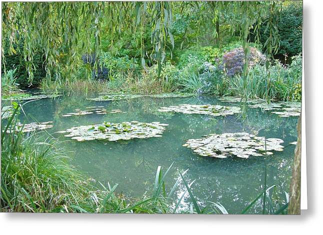 Giverny V Greeting Card by Wendy Uvino
