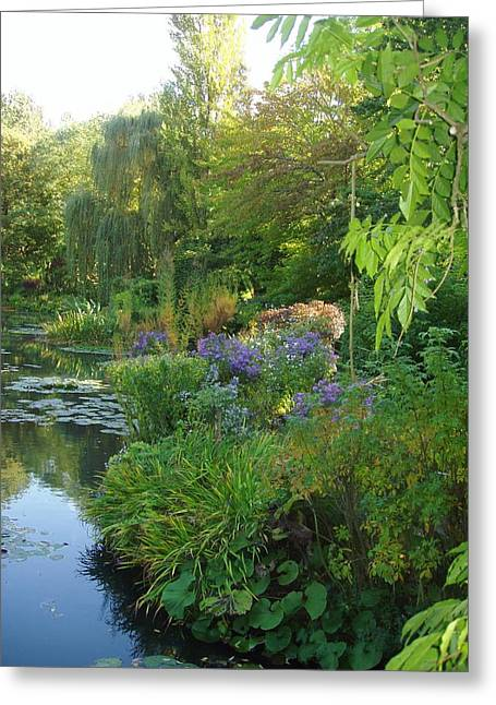Giverny Vi Greeting Card by Wendy Uvino