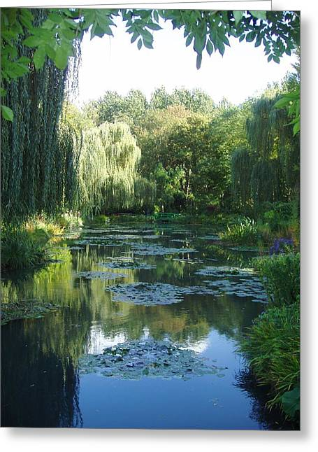 Giverny Vii Greeting Card by Wendy Uvino