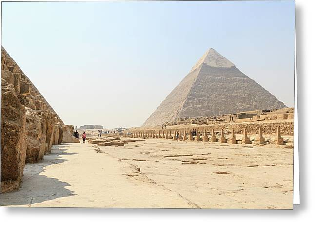 Greeting Card featuring the photograph Giza by Silvia Bruno