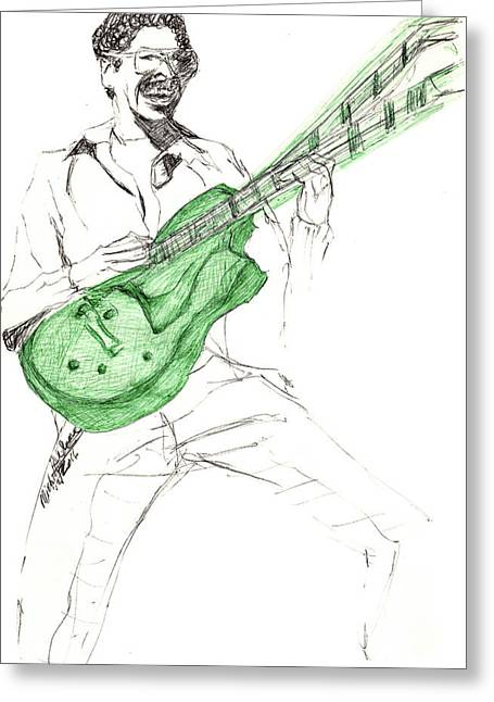 Gj Guitar  Greeting Card