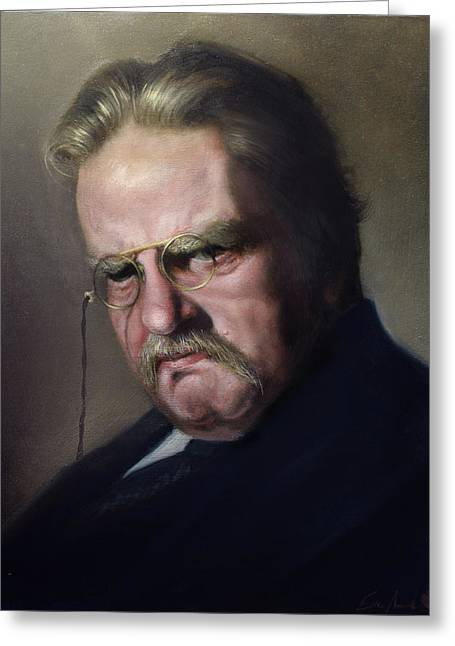 G.k. Chesterton Greeting Card by Eric  Armusik