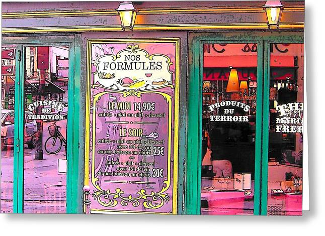 Glaces And Sorbets Berthillon Greeting Card by Jan Matson