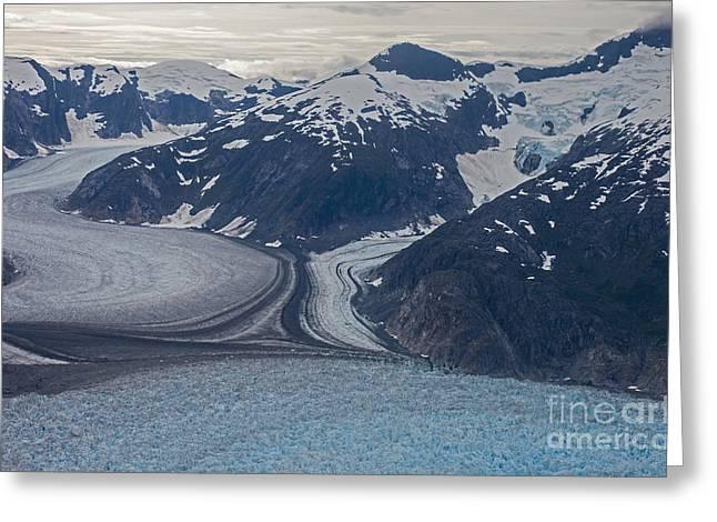 Glacial Curves Greeting Card