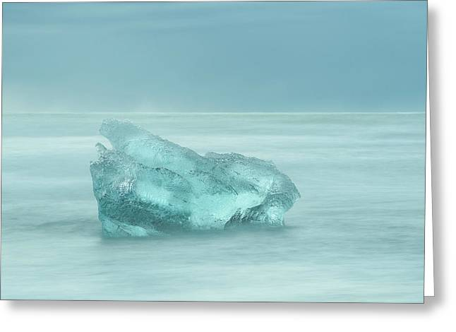 Glacial Iceberg Seascape. Greeting Card by Andy Astbury