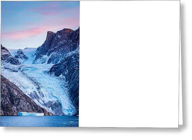Glacial Sunset - Greenland Glacier Photograph Greeting Card by Duane Miller