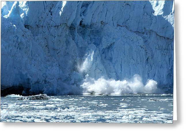 Glacier Calving Greeting Card by Dave Clark