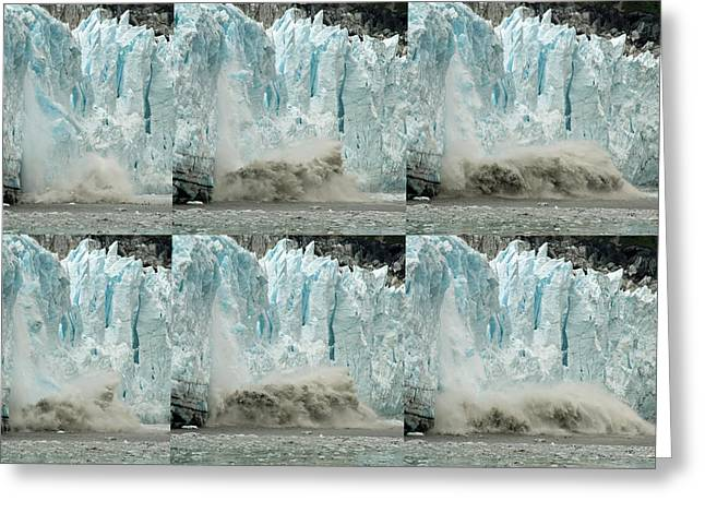 Glacier Calving Sequence 3 Greeting Card