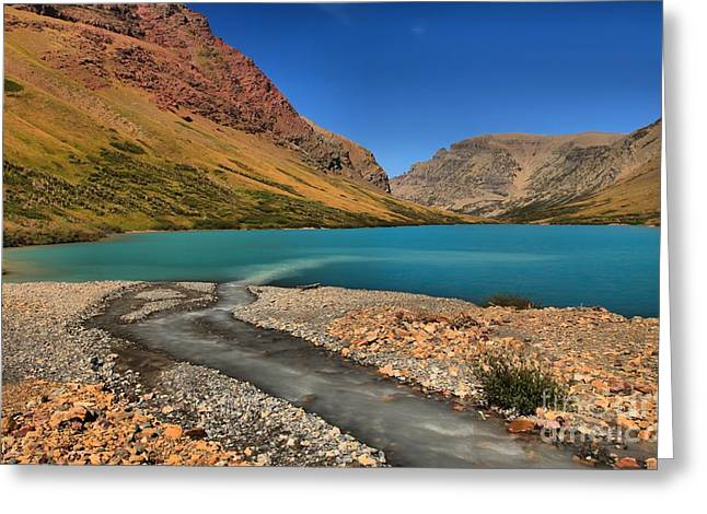 Glacier Cracker Lake Greeting Card