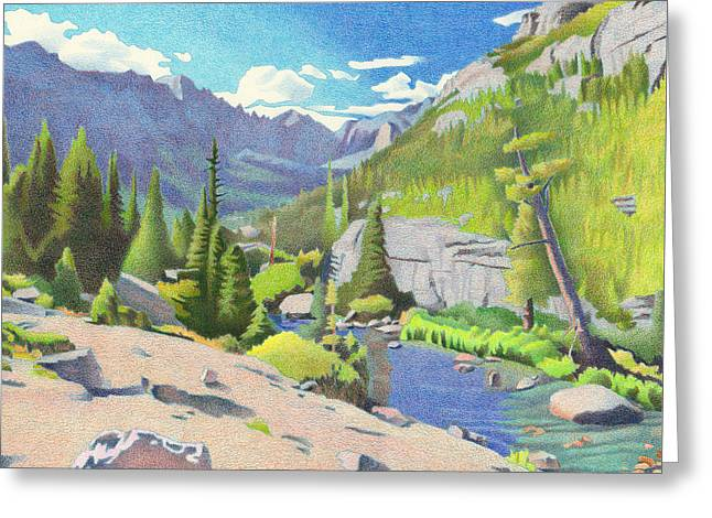 Glacier Gorge Greeting Card