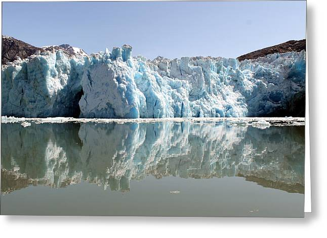 Glacier Ice Cave 24 Greeting Card