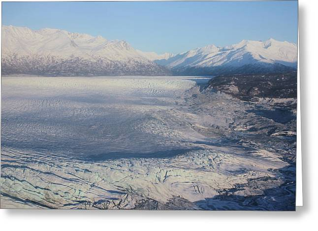 Greeting Card featuring the photograph Glacier In Alaska by Jingjits Photography