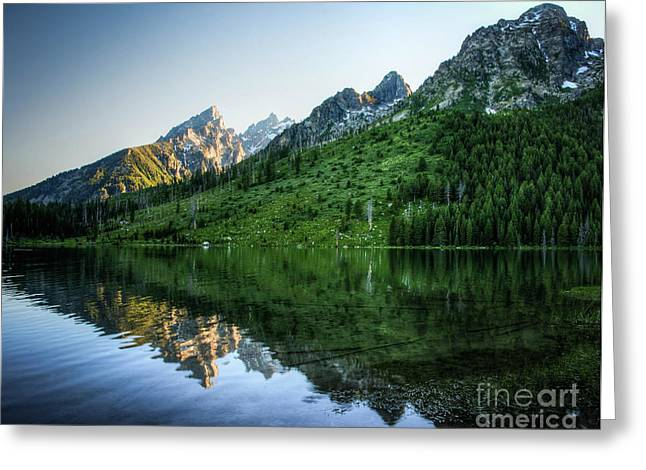 Glacier Lake Greeting Card