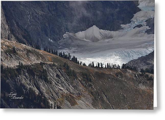 Glacier Greeting Card by Lynn Bawden