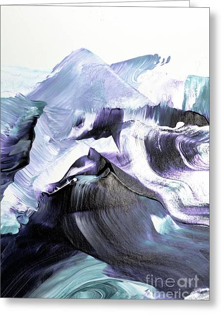 Glacier Mountains Greeting Card