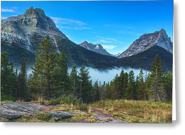 Glacier Mountains Greeting Card by Stuart Deacon