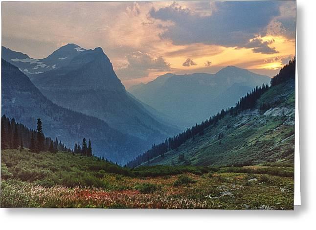 Glacier National Park Greeting Card by Donald Schwartz