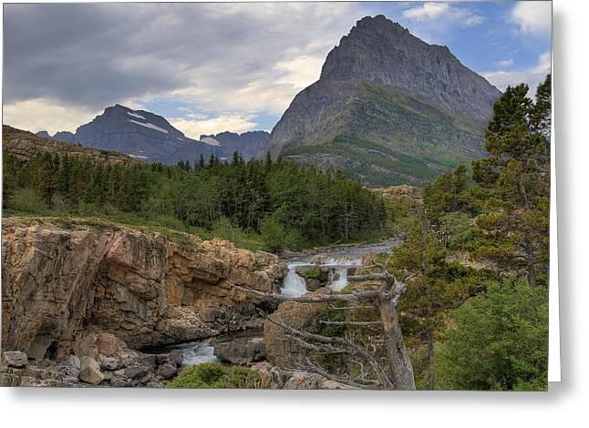 Glacier National Park Landscape Greeting Card