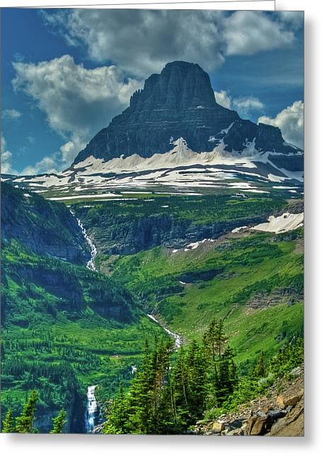 Glacier Park Valley View Greeting Card