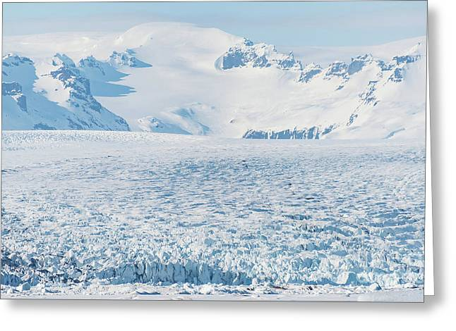 Glacier Patterns Greeting Card by Svetlana Sewell