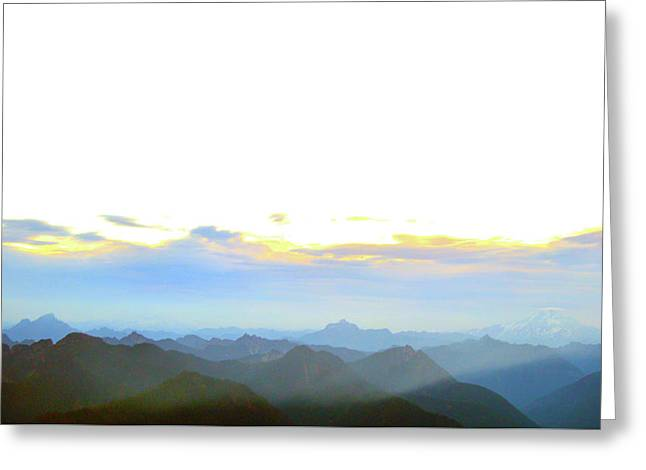 Glacier Peak At Sunrise Greeting Card
