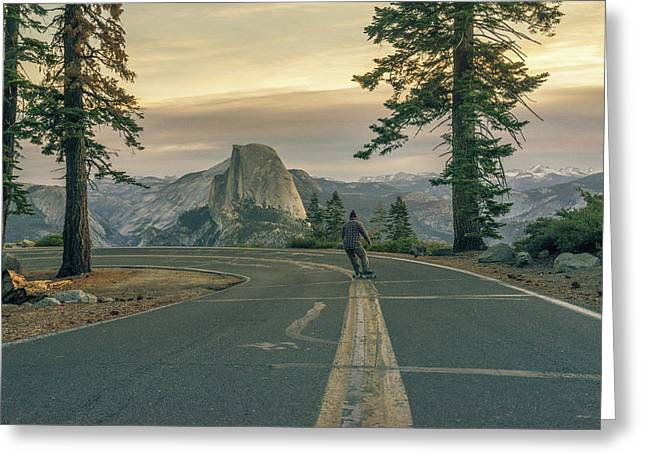 Glacier Point Adventure Greeting Card by Alpha Wanderlust