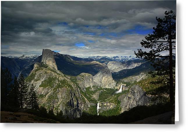 Glacier Point Greeting Card by Raymond Salani III