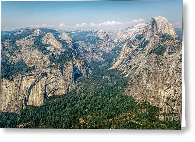 Glacier Point Yosemite Np Greeting Card