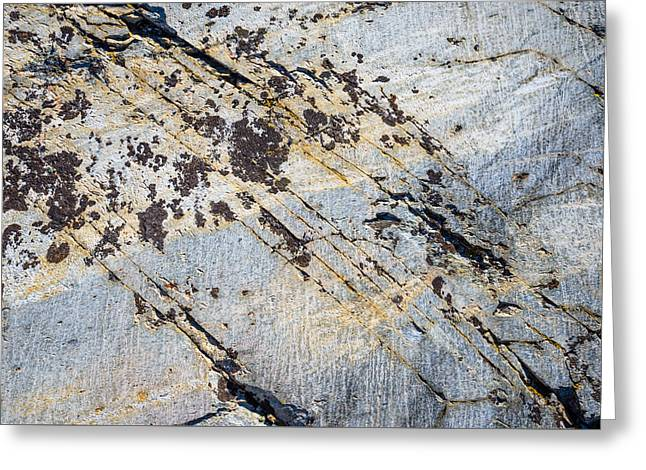 Greeting Card featuring the photograph Glacier-polished Metamorphic Rock by Alexander Kunz