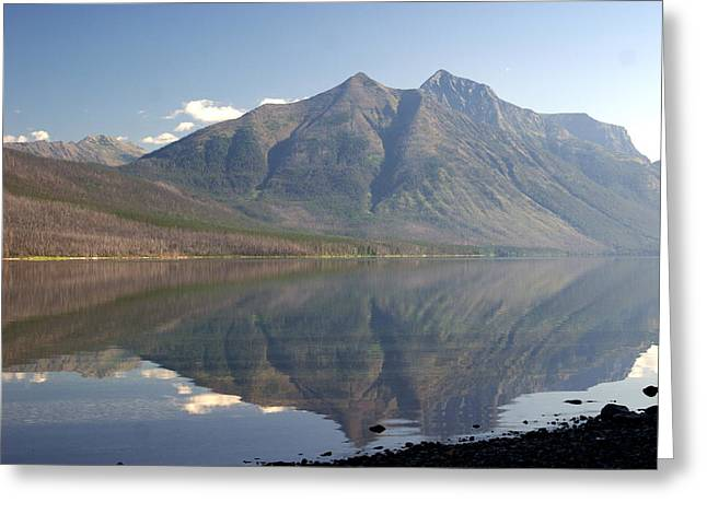 Glacier Reflection1 Greeting Card by Marty Koch