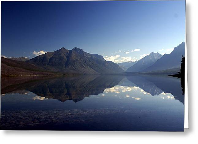 Glacier Reflections 2 Greeting Card by Marty Koch