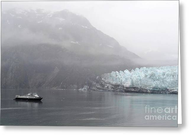 Greeting Card featuring the photograph Glacier Ride by Zawhaus Photography