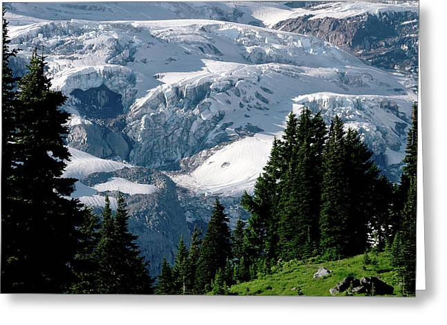 Glacier Greeting Card by Scott Nelson