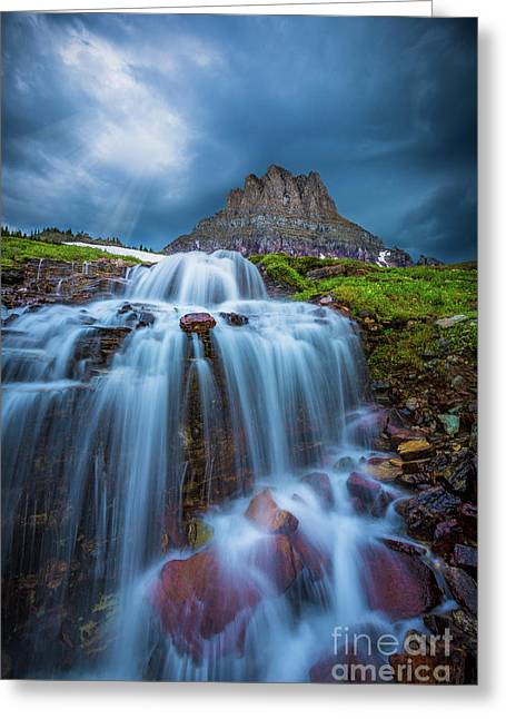 Glacier Storm Greeting Card by Inge Johnsson