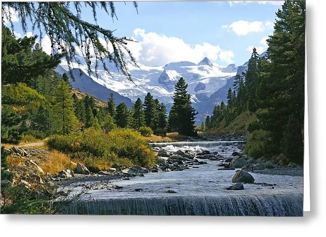 Glacier Stream Greeting Card by Tom Reynen