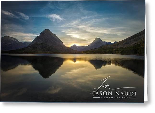 Greeting Card featuring the photograph Glacier Sunset by Jason Naudi