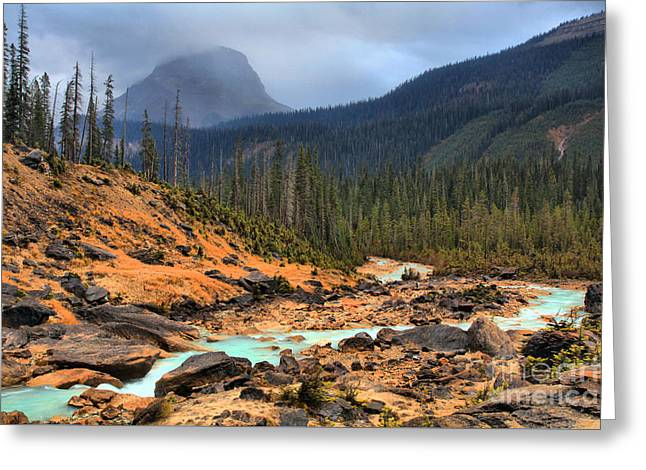 Greeting Card featuring the photograph Glacier Waters Flowing Through Yoho National Park by Adam Jewell