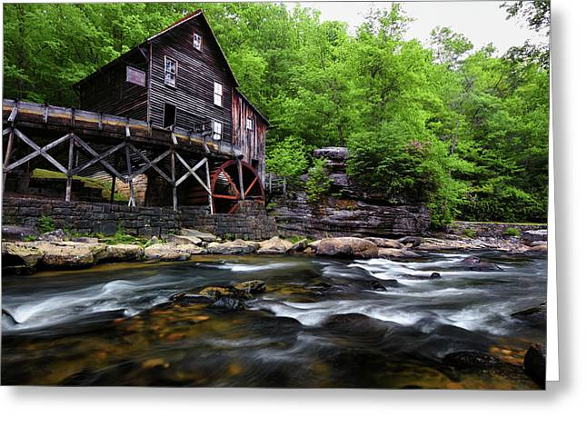 Glade Creek Grist Mil Greeting Card by Jeremy Clinard