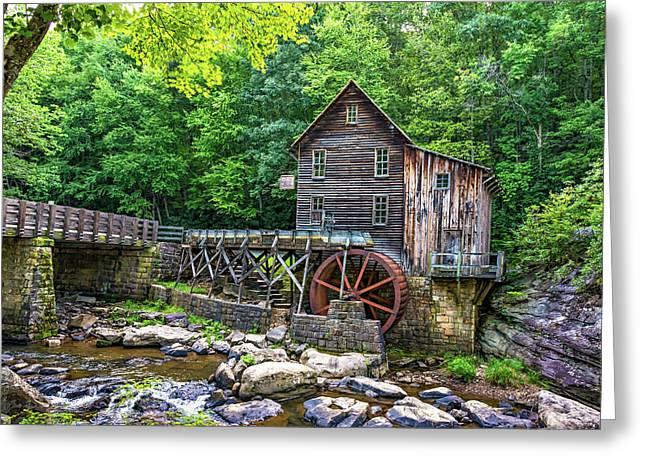 Glade Creek Grist Mill 2 Greeting Card by Steve Harrington