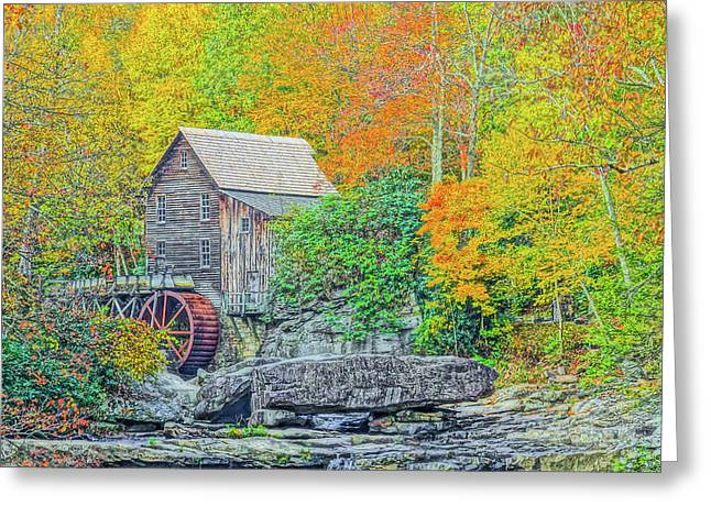 Glade Creek Grist Mill #3 Greeting Card