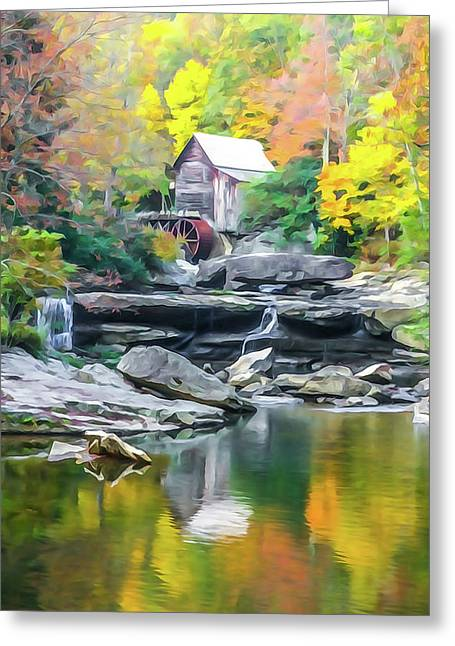 Glade Creek Grist Mill #4 Greeting Card