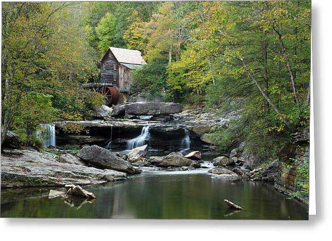 Greeting Card featuring the photograph Glade Creek Grist Mill by Ann Bridges