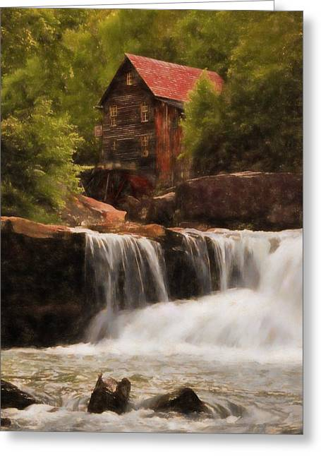 Glade Creek Grist Mill Greeting Card by Dan Sproul